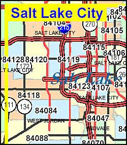 Slc Zip Code Map by Salt Lake Area Codes Submited Images