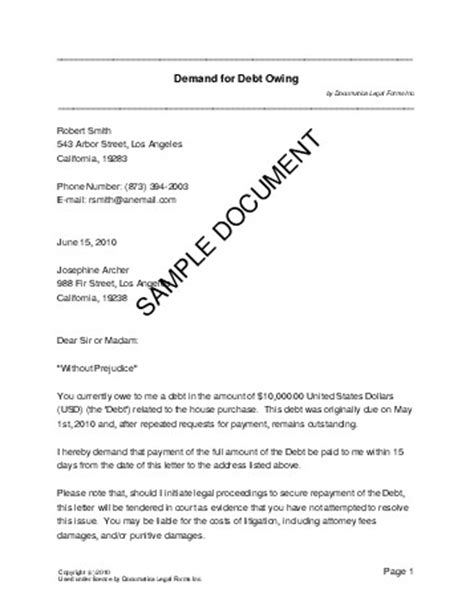 Demand Letter Sle Tagalog Demand For Debt Owing Philippines Templates Agreements Contracts And Forms