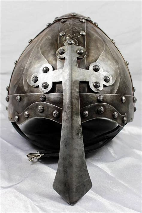 Helm Cross Jp viking norman helmet w nasal cross forged sca