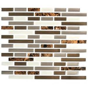 stick it tiles 11 in x 9 25 in mixed brown marble oblong