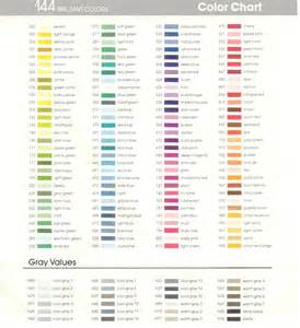 tombow color chart dual brush pens