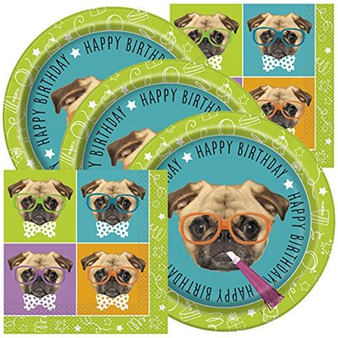 pug themed fantastic deal pug themed birthday napkins and plates cotton machine