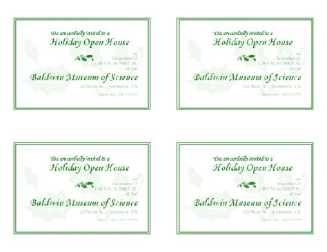 open office templates for invitations download free printable invitations of holiday open house