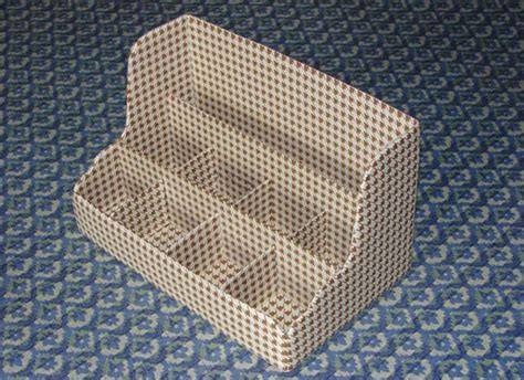 Rak Kosmetik Dari Karton diy cardboard desktop organizer home diy