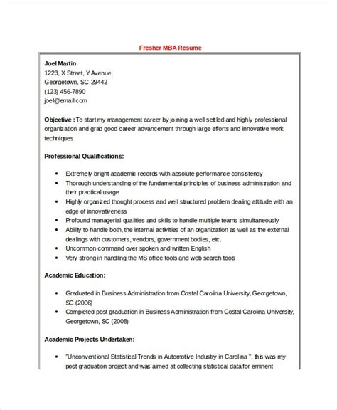 Mba Hr Fresher Resume Sle Doc mba fresher resume format pdf resume template ideas