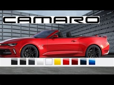 camaro colors 2016 camaro convertible paint colors