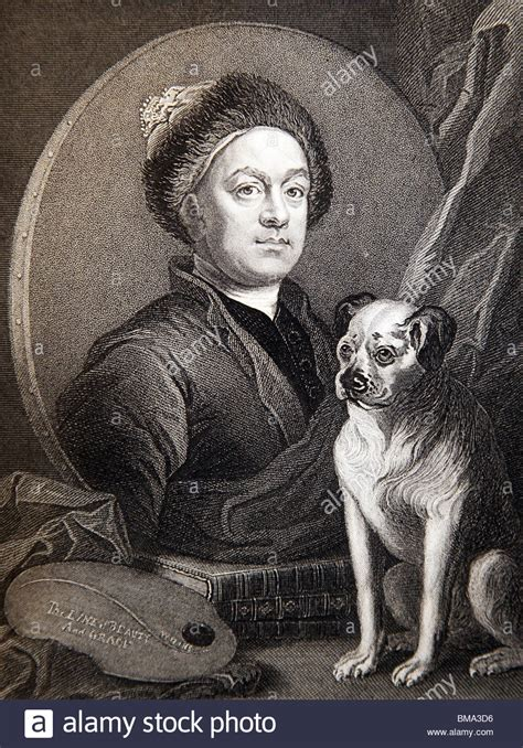 william hogarth pug engraving from the original painting by william hogarth self stock photo royalty