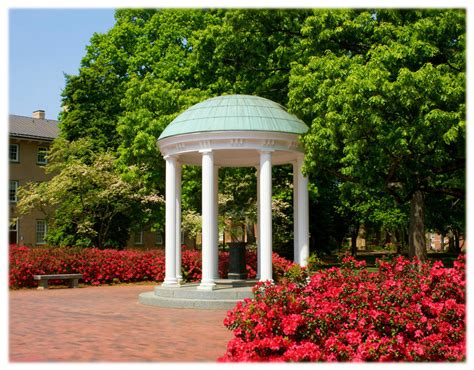 chapel hills unc chapel hill old well and azaleas north carolina