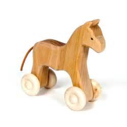 Home baby amp toddler push amp pull wooden horse on wheels