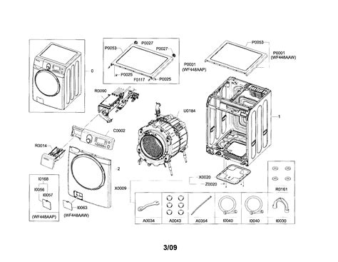samsung front load washer parts diagram samsung washer parts model wf448aapxac sears partsdirect