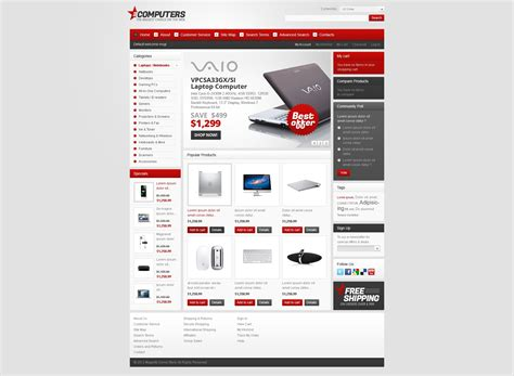 magento themes generator computer store magento theme 38222 by wt magento themes