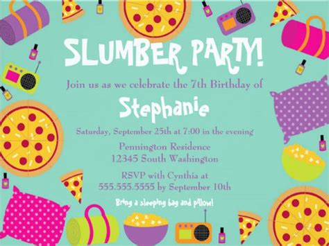 17 slumber party invitations free psd ai vector eps