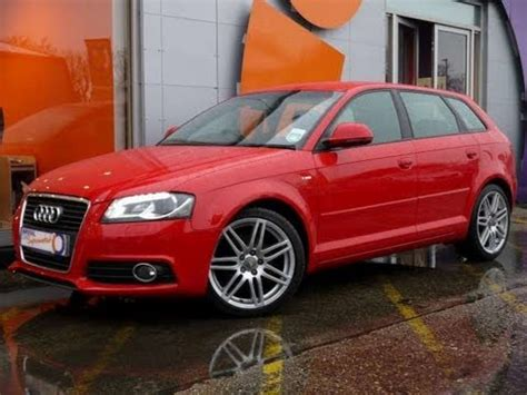 Red Audi A3 For Sale by 2009 Audi A3 S Line 2 0tdi Sportback Red For Sale In