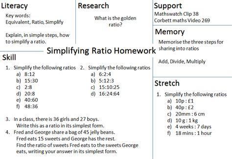Simplifying Ratios Worksheet by Mathematics Pret Homeworks Number