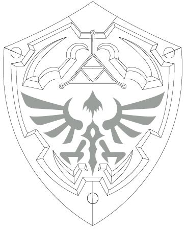 Hylian Shield Outline by 301 Moved Permanently