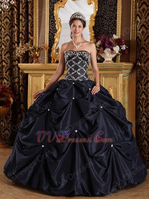 black quinceanera dresses black picks up design appliqued puffy quinceanera dress