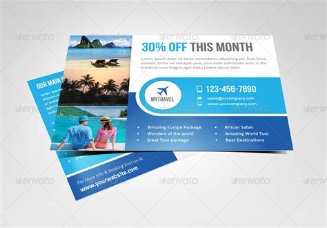 Promotional Postcard Template multipurpose marketing postcard flyer template by