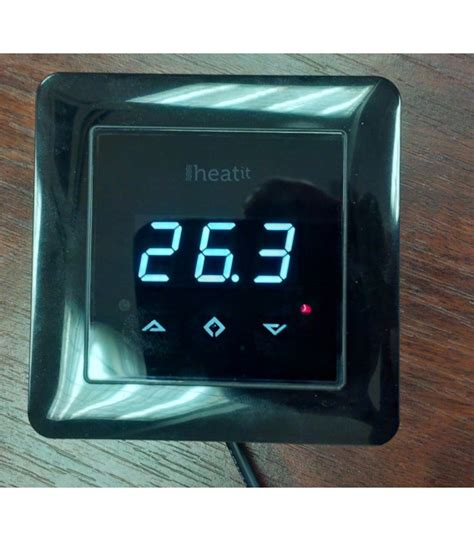 Z Wave Fireplace Switch by Heatit Z Wave Thermostat Black Z Wave Wall Thermostat For Contr