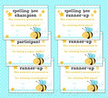 printable spelling bee games printable spelling bee award certificates by inky pinky