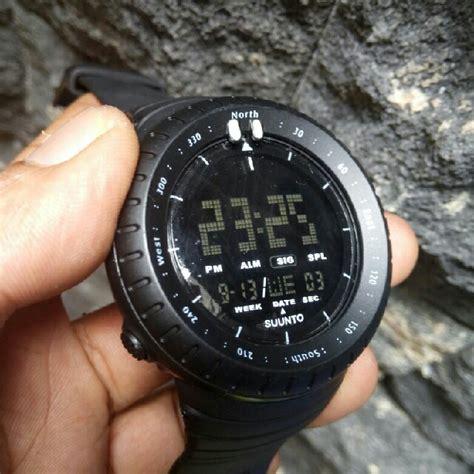 Jam Tangan Pria Suunto new jam tangan sport pria suunto black outdoor
