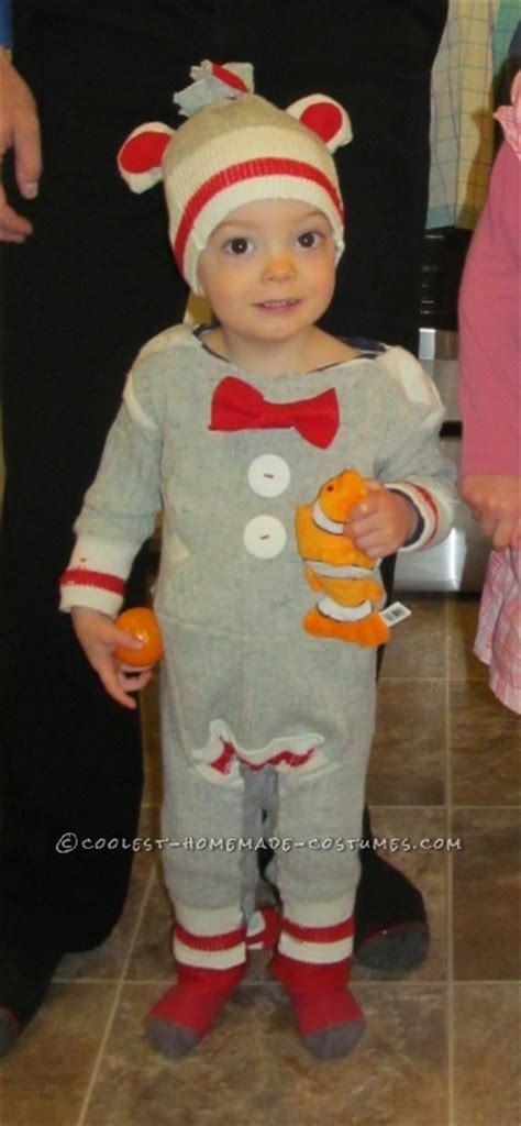 coolest sock monkey toddler costume