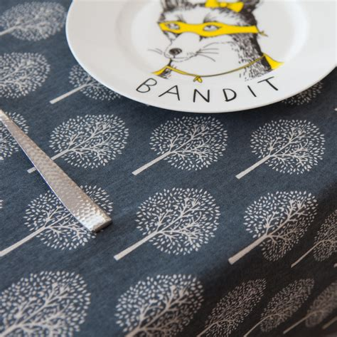 Handmade Sewing - 50x150cm blue tree cotton fabric cloth diy handmade sewing