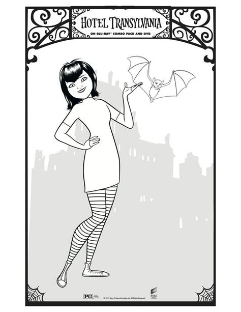 halloween coloring pages hotel transylvania character coloring and activity pages mavis hotel
