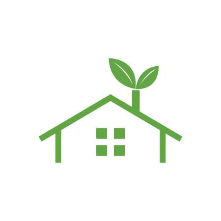 buy green eco house vector logo template fot your eco company