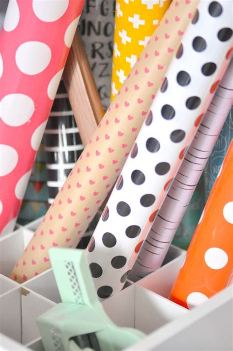 new year wrapping ideas kara s ideas wrapping paper station organizing the