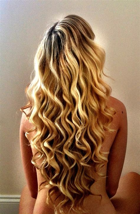 hairstyles using curling wand my hair today i love my highlighted blonde long v cut