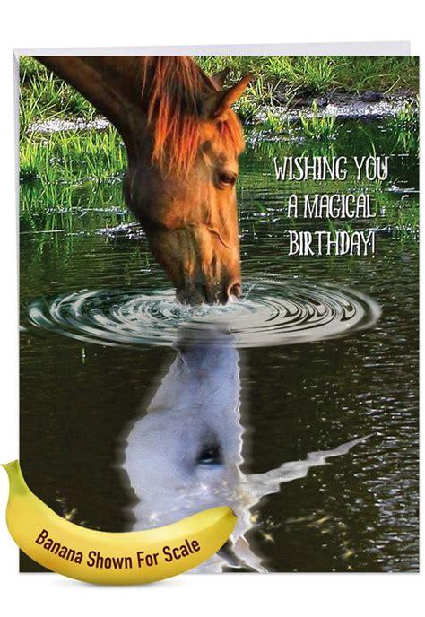 aspirations horse stylish birthday extra large paper card