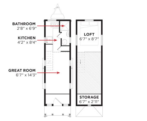 tumbleweed tiny house floor plans elm 174 tumbleweed houses