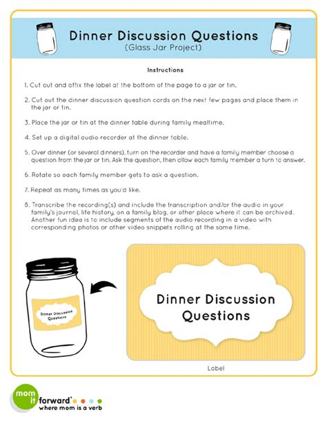 50 questions to ask while at the dinner table questions to connect and grow books family history worksheet by paula ford martin