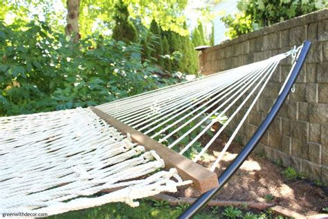 Pretty Hammock Green With Decor Time To Relax Hint A Hammock