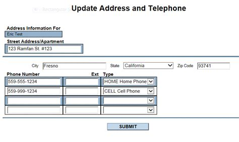 address or phone number updates fresno city college