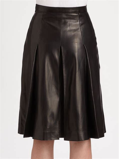leather skirt pleated dress ala