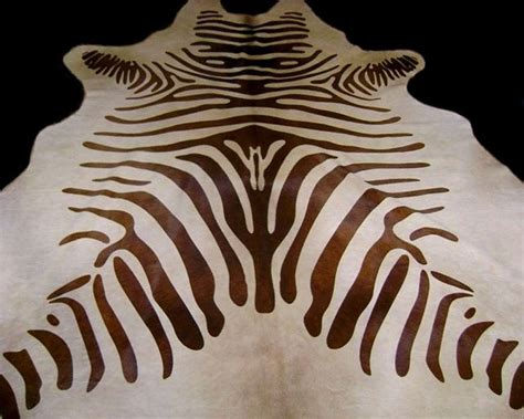 zebra cowhide rug zebra cowhide rug brown and light beige standard