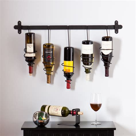 Home Wine Rack by Wildon Home 174 Carsten 5 Bottle Wall Mounted Wine Rack