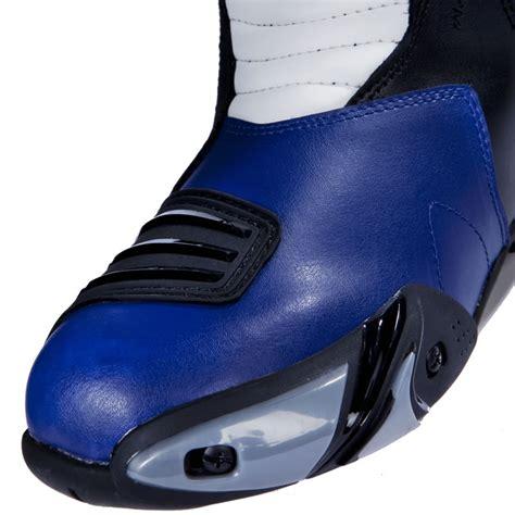 blue motorbike boots black zero waterproof sport racing motorcycle motorbike