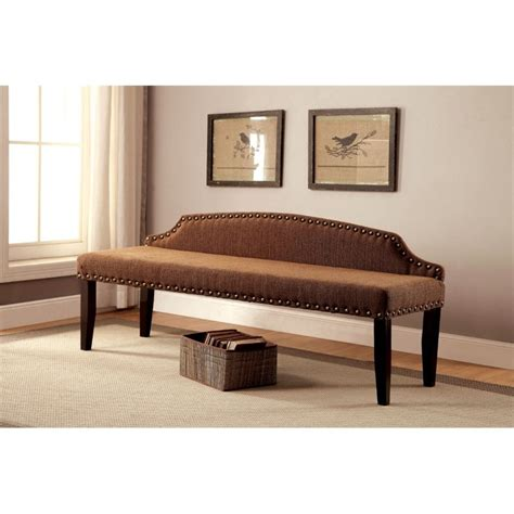 fabric benches furniture furniture of america davos fabric bedroom bench in brown