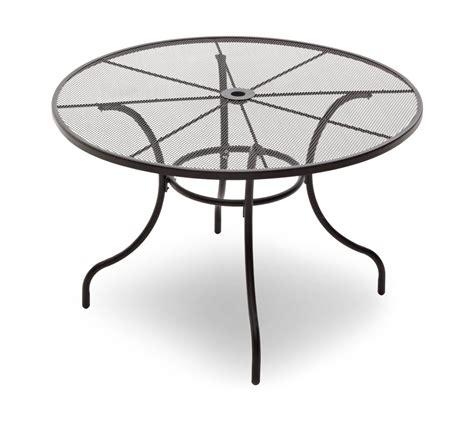 Metal Mesh Patio Table Strathwood Basics Steel Mesh Dining Table Garden Outdoor