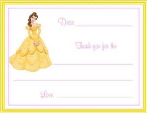 belle from beauty and the beast fill in thank you cards