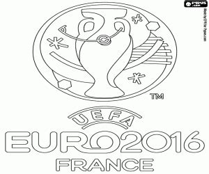 coloring pages euro logo of the euro 2016 coloring page printable game