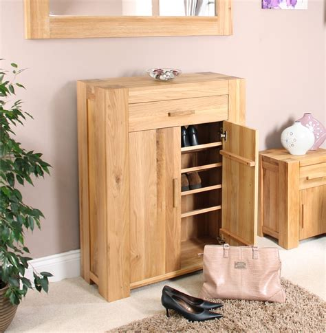 shoe furniture storage palma solid chunky oak hallway furniture shoe storage