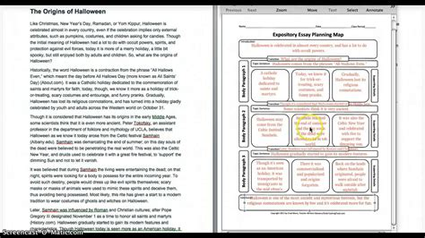 Expository Essay Maps by Expository Essay Planning Map