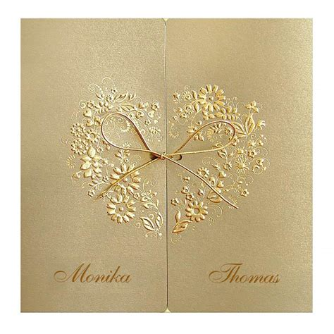 hochzeitseinladung gold designer hochzeitseinladung nr 12 klappkarte im