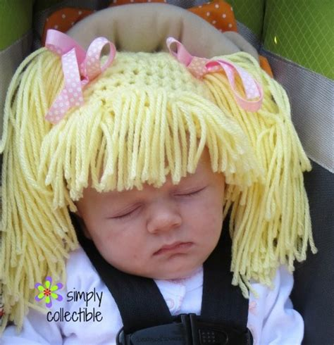 free pattern cor cabbage patch wig free tutorial wig hat crochet pattern infant and child