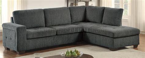 calby lane sectional sofa   grey fabric  homelegance