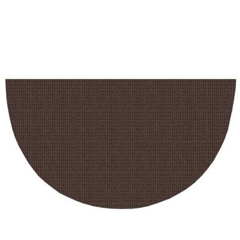 large half circle rugs large half brown polyester hearth rug 36 quot x 72 quot