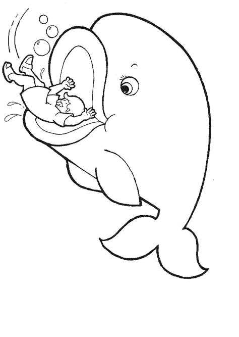 Jonah Coloring Pages Jonah And The Whale Jonah Prophet Jonah And The Big Fish Coloring Page